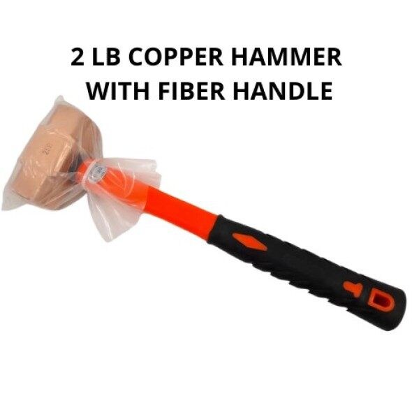 [ Local Ready Stocks ] High Quality Copper Hammer with Fiber Handle Tukul Besi 2.0LB