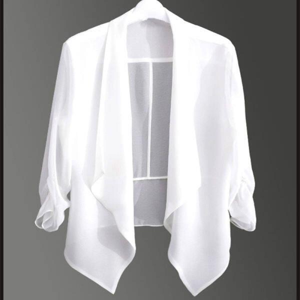 ผ้าคลุมไหล่ ผ้าชีฟอง✶♘❄Áo Cardigan Vải Voan Rộng 2020 Mới, Bộ Điều Hòa Không Khí Mỏng Joker Áo Khoác Nhỏ Đoạn Ngắn Ms Khăn Choàng