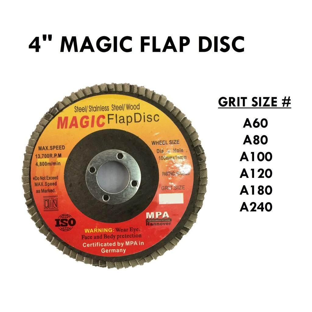 100MM X 10 PCS  MAGIC FLAP DISC ( 60#,80#,100#,120#,180#,240# )