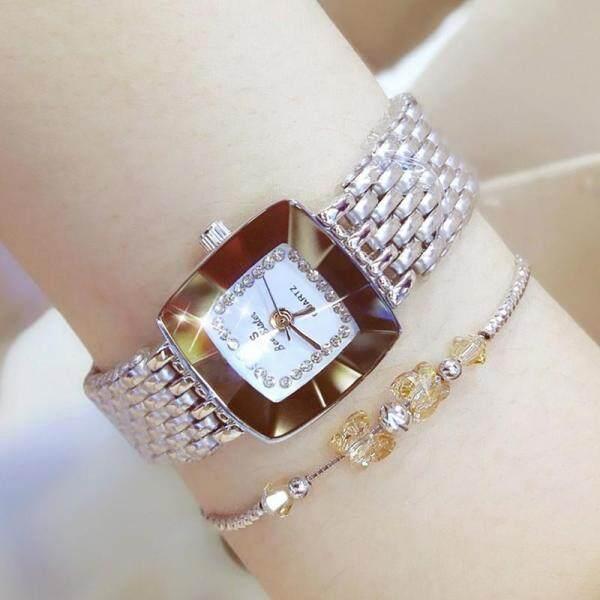 Bs Fashion Watch For Women Stainless Steel Strap Diamond Quartz Watches Fashion Luxury Elegant LadyS Casual Watch Business Watch Fa1197 + 1Pcs Free Bracelet Malaysia