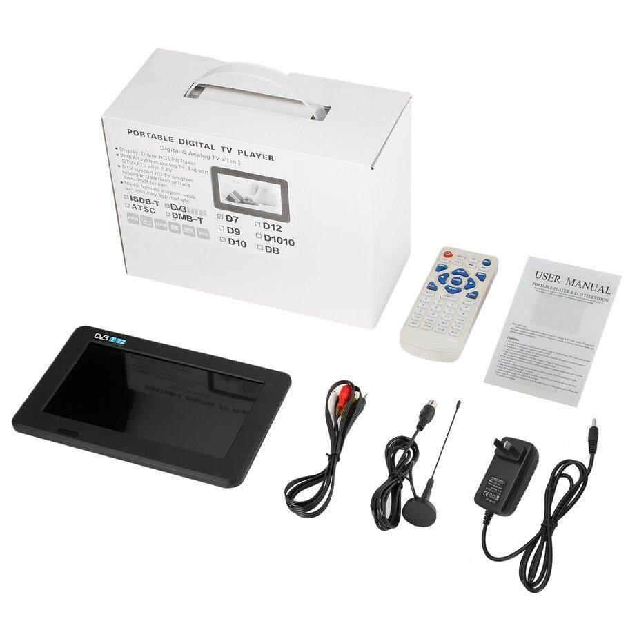 Ưu Đãi Lớn LESHP 7 inch HD 1080 P Di Động HD LED Bảng Điều Khiển Kỹ Thuật Số Và Analog TV Người Chơi D7-ATSC