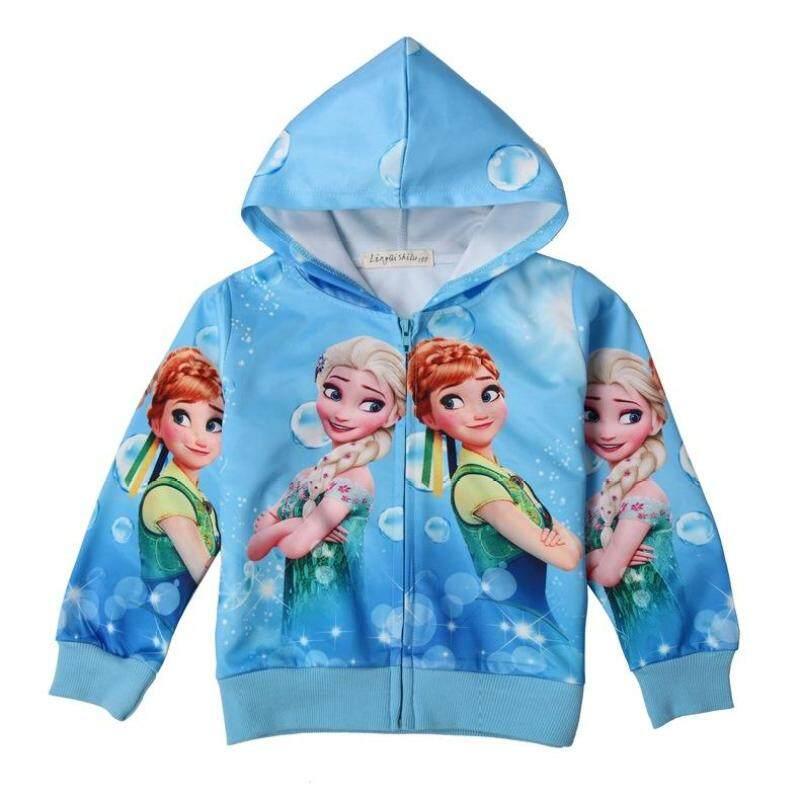 Giá bán 2020 Bé Gái Hoạt Hình Công Chúa Frozen Áo Khoác Dài Tay Dây Kéo Trang Phục Cho Bé Gái Áo Khoác Áo Khoác Mỏng 3-8Y