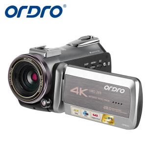 Máy Quay Video 4K ORDRO AZ50, Máy Quay Chuyên Nghiệp Với Cảm Biến CMOS 2.3 Inch WiFI Tầm Nhìn Ban Đêm Hồng Ngoại Thu Phóng Kỹ Thuật Số 64X 60 Khung Hình Giây Cho Vlog YouTube thumbnail