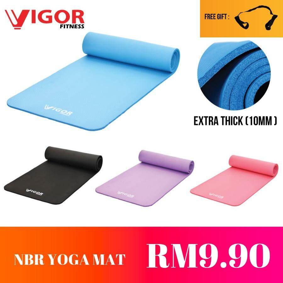 VIGOR FITNESS NBR Yoga Mat 10MM (Free Strap)