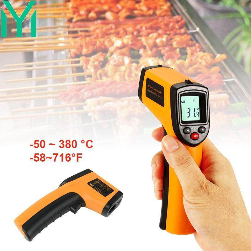 Industrial Thermometer Infrared Thermometer Temperature Measurement Tool Yellow Black 0.95 Preset ABS Health Laser Measurement Contactless with LCD Top Grade Practical