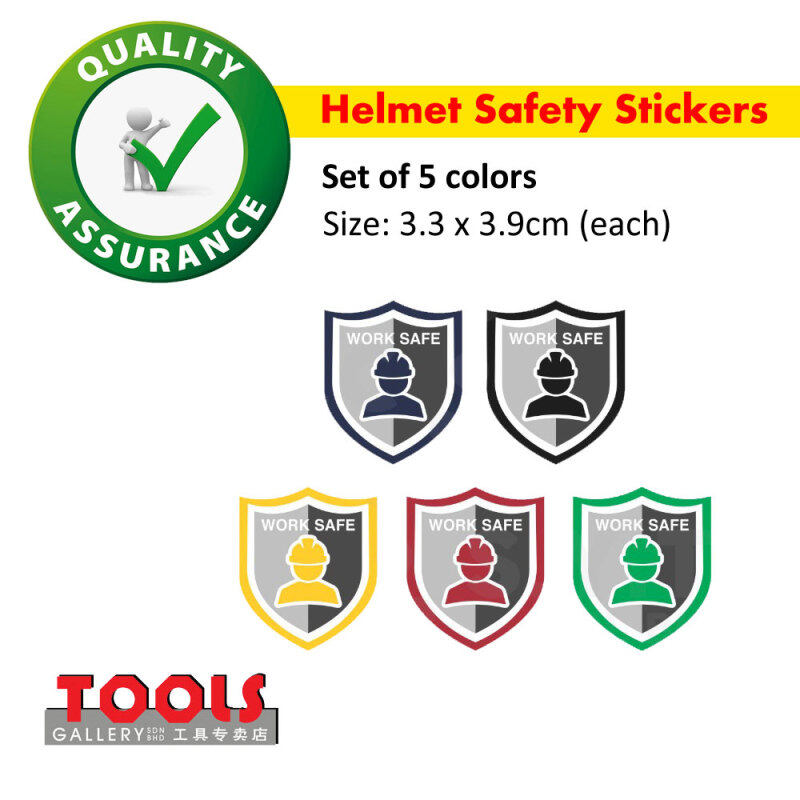 Helmet Safety Stickers/Label/Work Safe Stickers/Head Protection