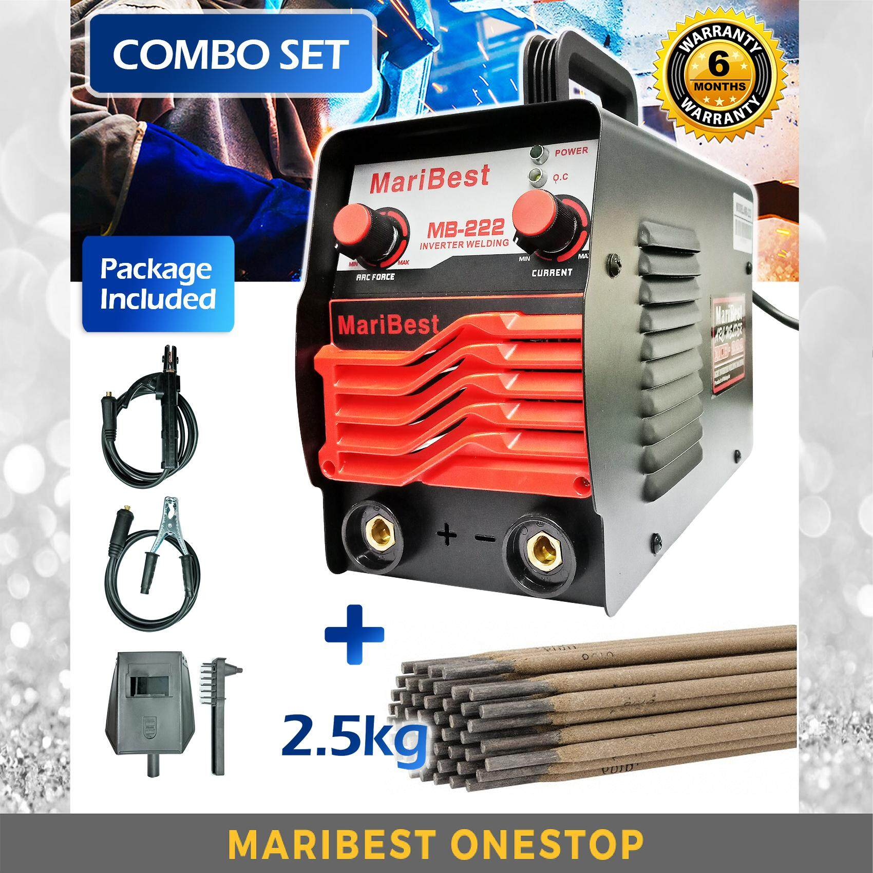 COMBO SET MARIBEST INVERTER WELDING MACHINE ARC WELDING MB-222 & E6013 ELECTRODES