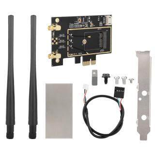 Bộ Chuyển Đổi WLAN Từ Máy Tính Để Bàn M.2 NGFF Sang PCI-E 1X Thẻ WiFi Không Dây Cho 8265 7265 thumbnail
