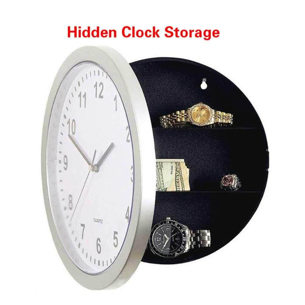 Dongxi Money Stash Jewellery Stuff Container Clock Creative Hidden Secret Storage Wall Clock Home Decroation Office Safe