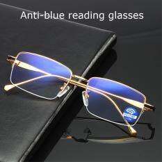 Kính đọc sách chống lóa chống ánh sáng xanh chất liệu cao cấp gọng vàng