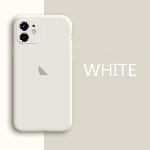 Ốp lưng bảo vệ điện thoại và ống kính máy ảnh bằng silicon TPU mềm, màu trơn, in logo dành cho IPhone 12 11 Pro X XR XS MAX 7 8 6 6S Plus
