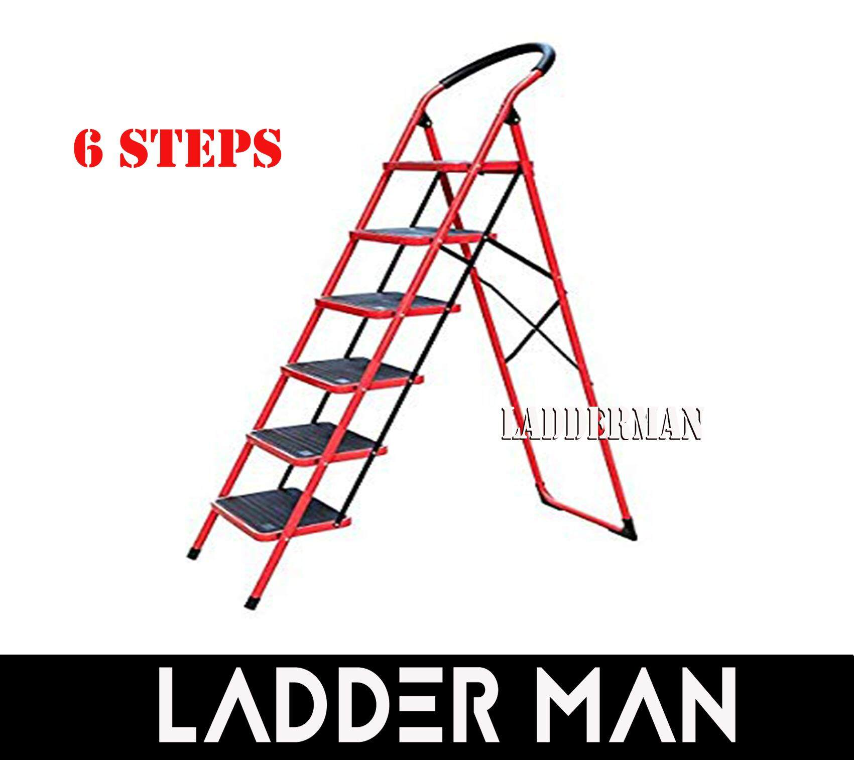Heavy Duty Foldable 6 Step Stool Ladder with Hand Grip