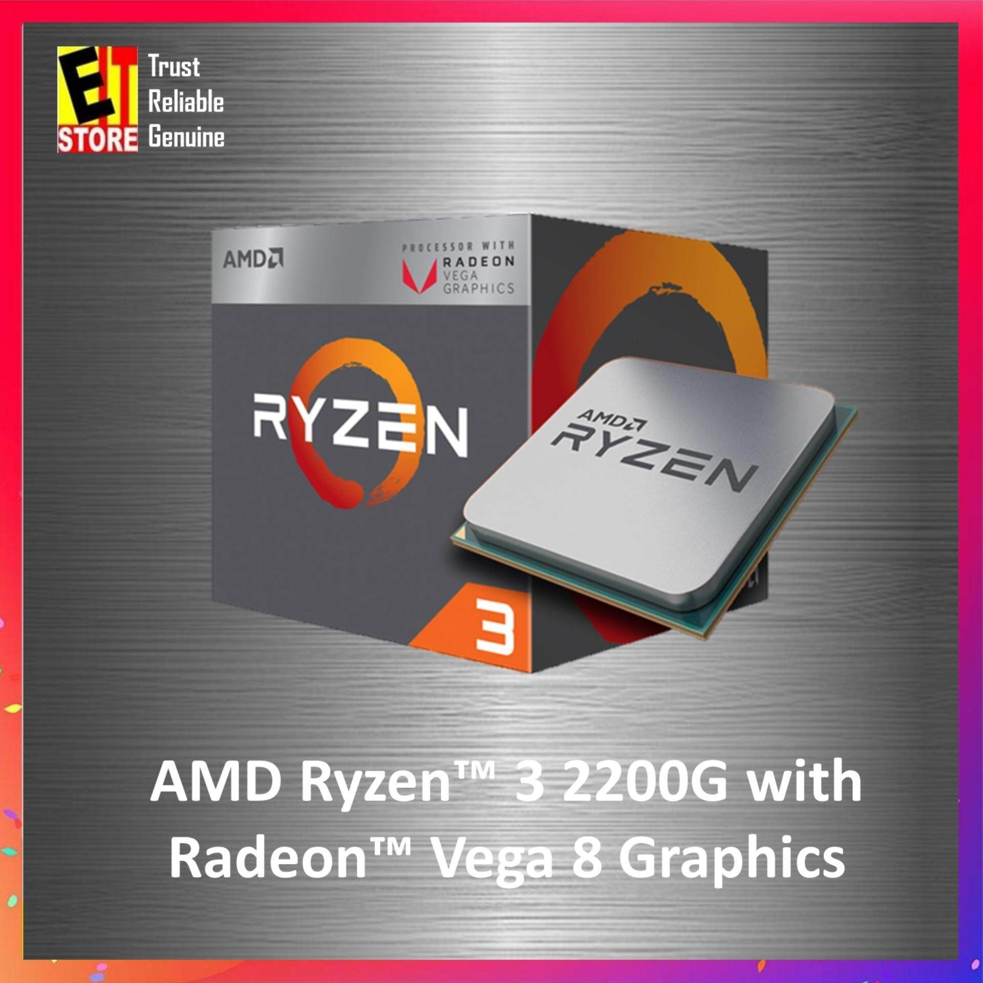 AMD RYZEN 3 2200G WITH RADEON VEGA GRAPHICS 4 CORE BASE BOX PROCESSOR