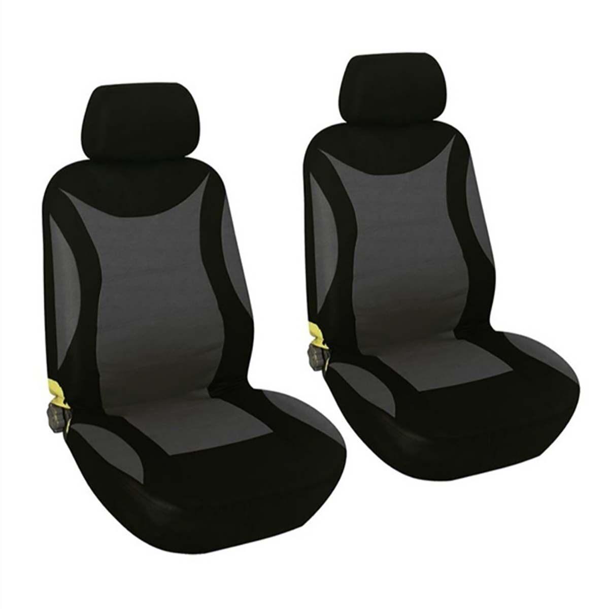 VOLVO 200 300  Universal Car Seat Covers Full Set Grey//Black Velour Fabric 14402