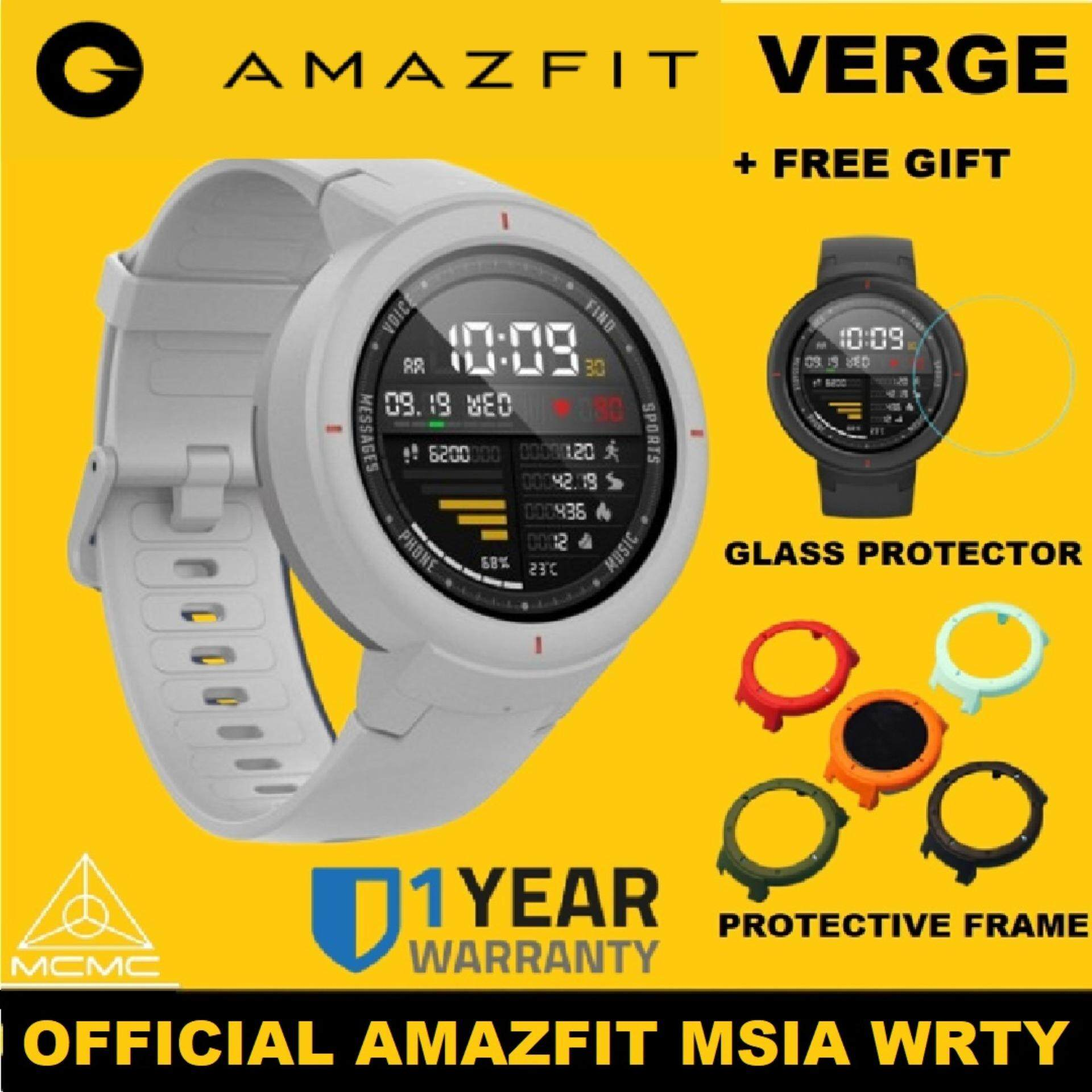 [OFFICIAL AMAZFIT MSIA WRTY] 2019 Amazfit VERGE AMOLED LCD ENGLISH VERSION  with SIRIM and MCMC Xiaomi Huami Amazfit Smart Sport Watch 1 34 Inch 2 5D