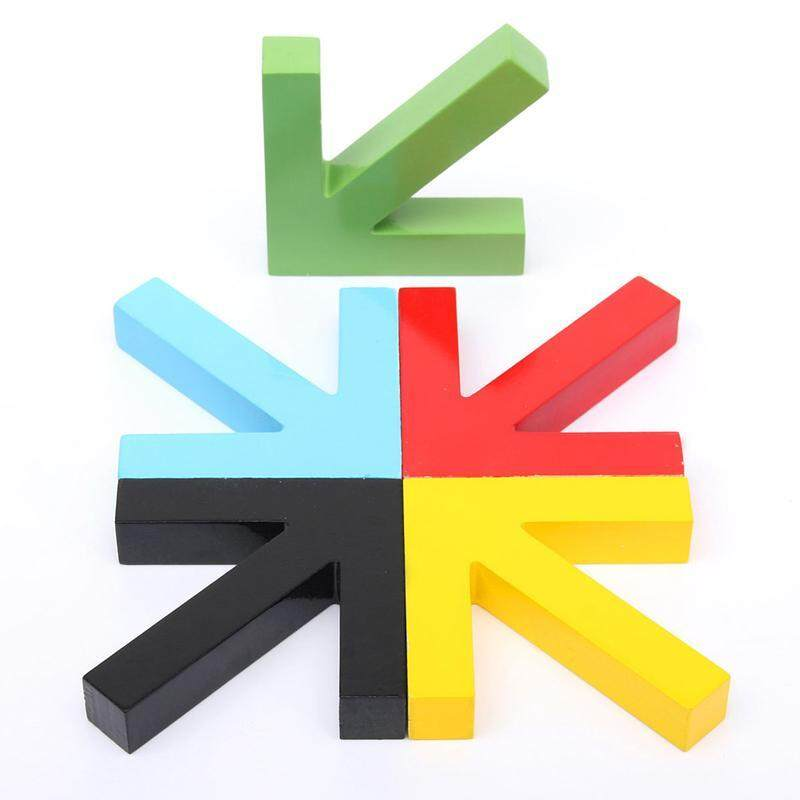 Colorful Creative Arrow Wall Mounted Color Painting Wood Hook Hanger Hat Coat Door Clothes Rack For Home Decoration