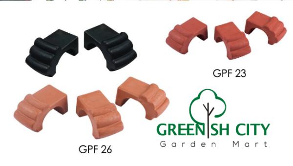 < GreenHeavenz > GAFRI GPF23 GPF26 Gardening Plastic Flower Pot Feet ( Pack of 3 ) Kaki Pasu Bunga
