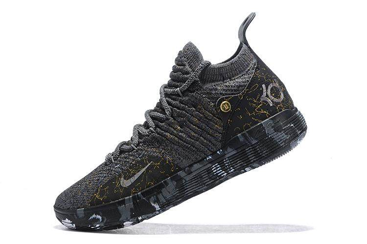 51c18e95369 Man s Zoom KD 11 EP Basketball Shoes NBA Kevin Durant Sneakers Official  Breathable Authentic Black Gold