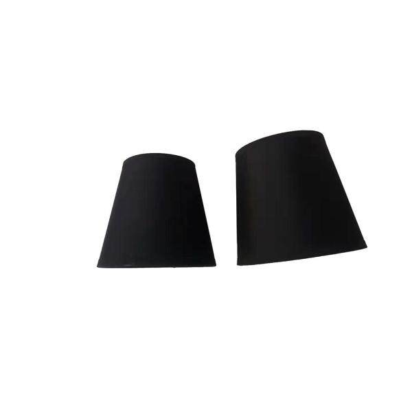 2pcs Modern Black Gold Decorative Fashion Chandelier Hotel Clip On Cloth Home E14 Lamp Shade