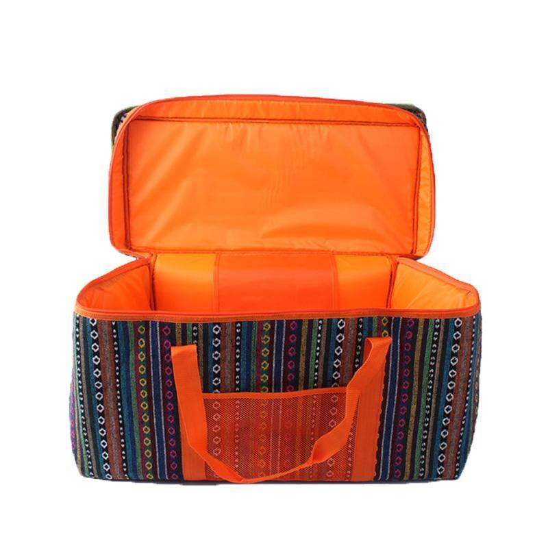 Esmall Profesi Portable Insulated Kanvas Tas Makan Siang Outdoor Makanan Piknik Pengiriman Tas Boyong Volume: 66 Cm X 33 Cm X 41 Cm By Extreme Speed Mall