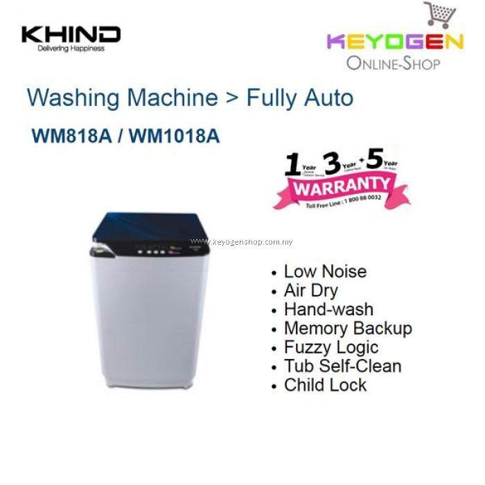 KHIND 8KG (Fully Auto) Washing Machine with Stylish Touch Panel WM1018A ((NEW MODEL))