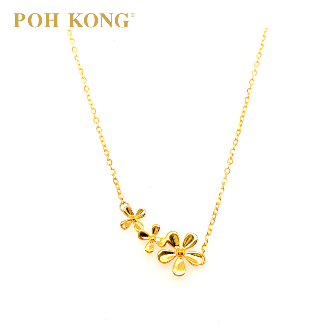 Poh Kong 916 22k Assorted Design Polo Yellow Gold Necklace Lazada