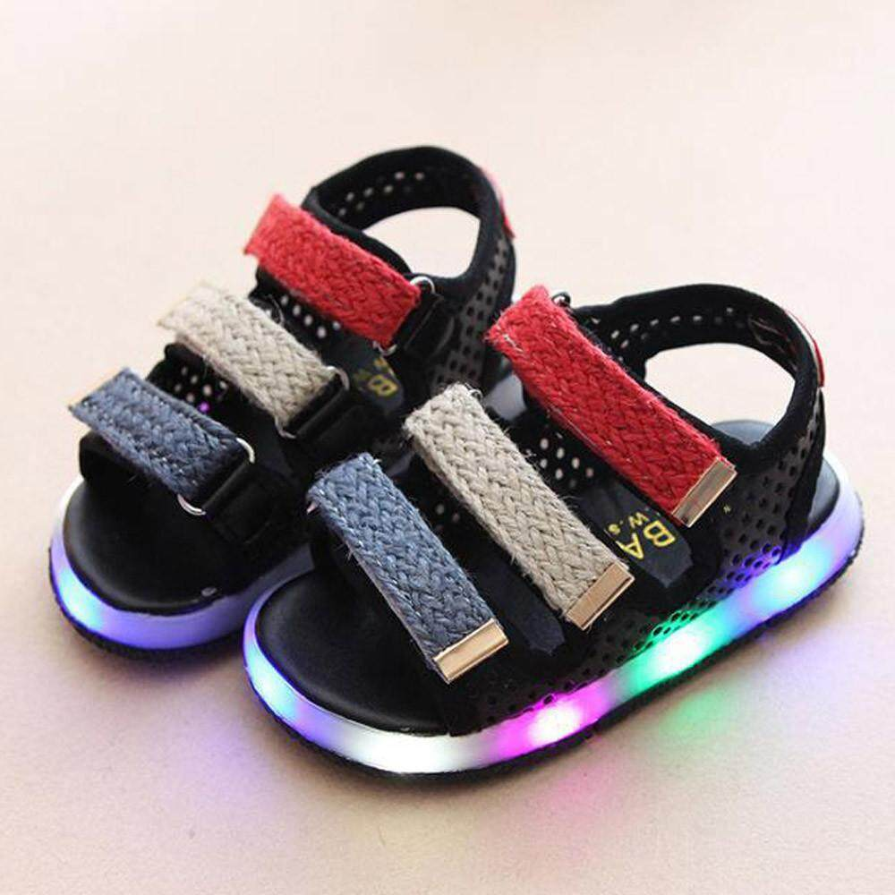 Kincaidstore Toddler Kids Sport Summer Boys Girls Baby Sandals Led Luminous Shoes Sneakers By Kincaidstore.