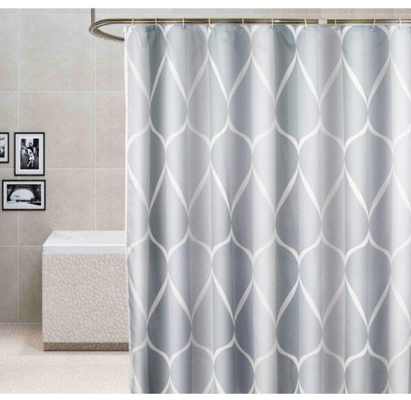 Rèm Phòng Tắm Polyester Dày, Không Thấm Nước, Đơn Giản
