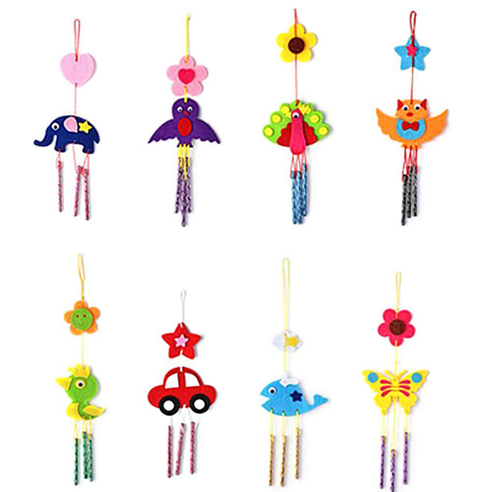 Kids Child Diy Wind Chimes Aeolian Bells Educational Puzzle Toys Craft Kits By Runningoingo.
