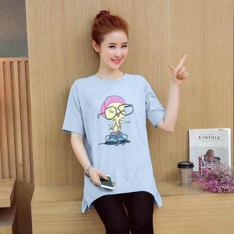 92a904c62f1 Pregnant women T-shirt Summer Wear Short-sleeved Top 2019 New Style Loose  Mid