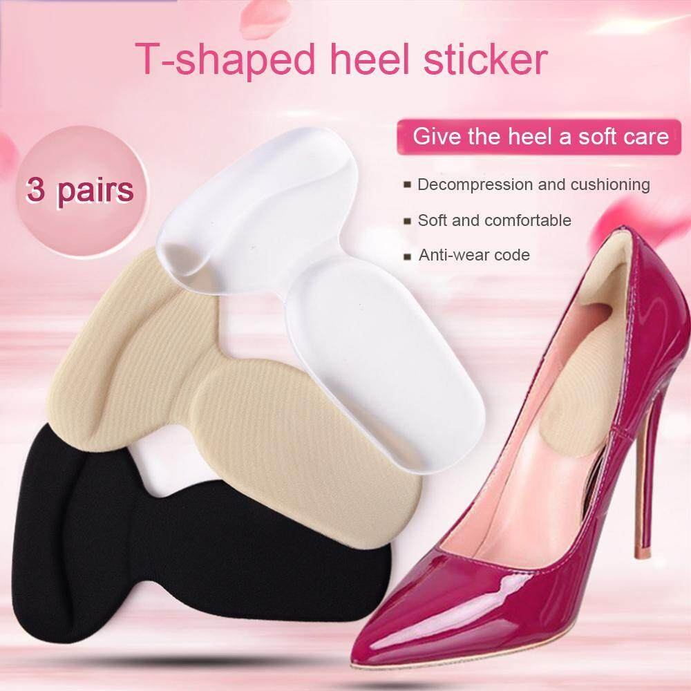 3Pairs High Heel Liner Grip Cushion Protector Foot Care Shoe Insole Pad Silicone