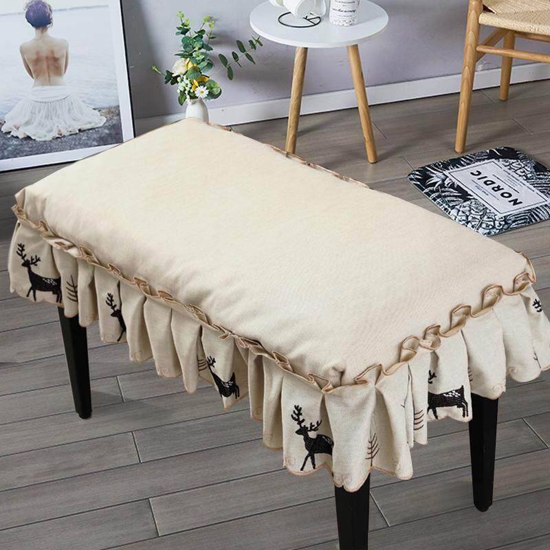 Pleasant Thick Embroidered Elk Piano Stool Cover Dustproof Music Stool Cover Height Adjustable Double Music Stool Cover Piano Chair Cover Closeout Uwap Interior Chair Design Uwaporg