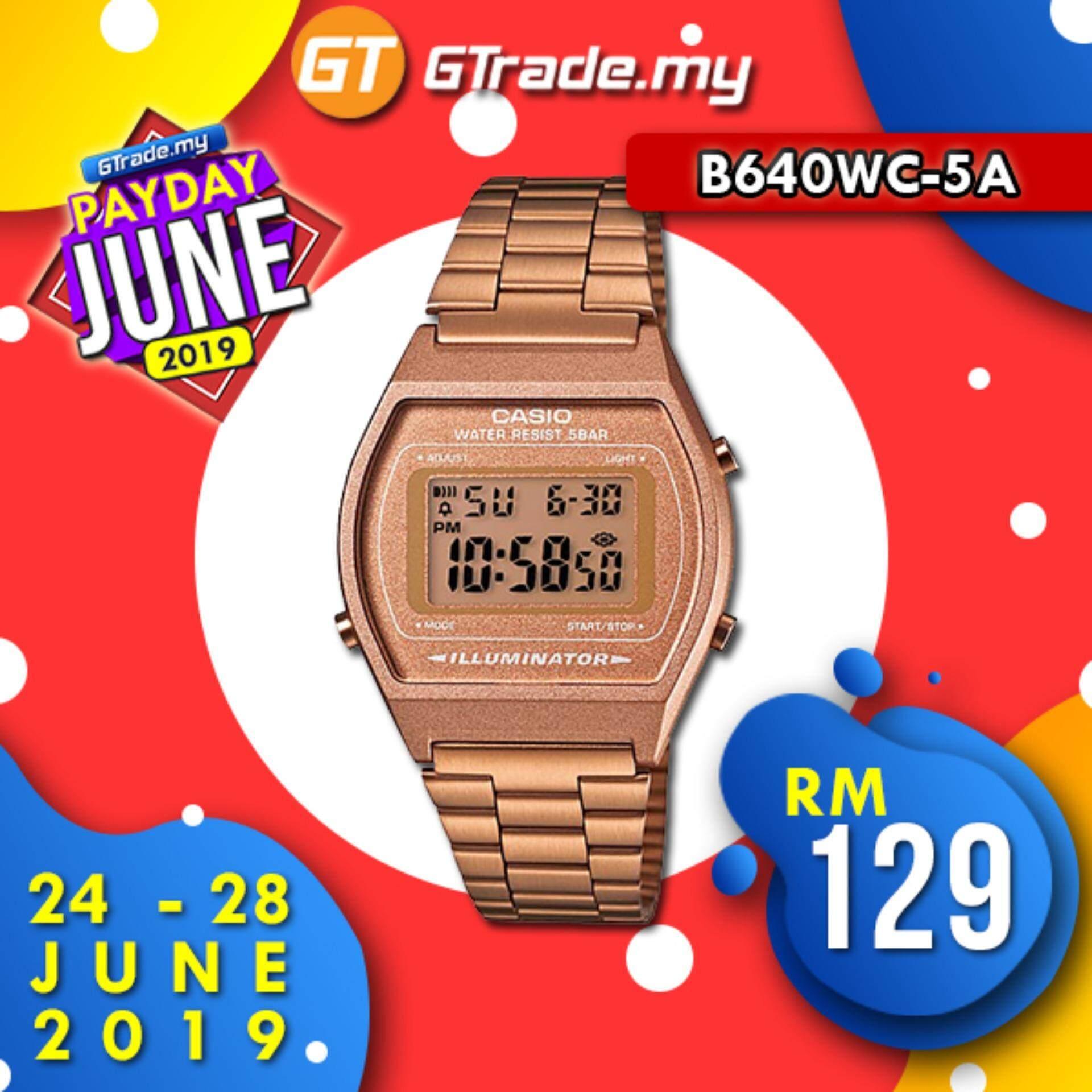 f231a86a5 CASIO DIGITAL B640WC-5AV Men & Ladies Digital Watch - Retro Rose Gold