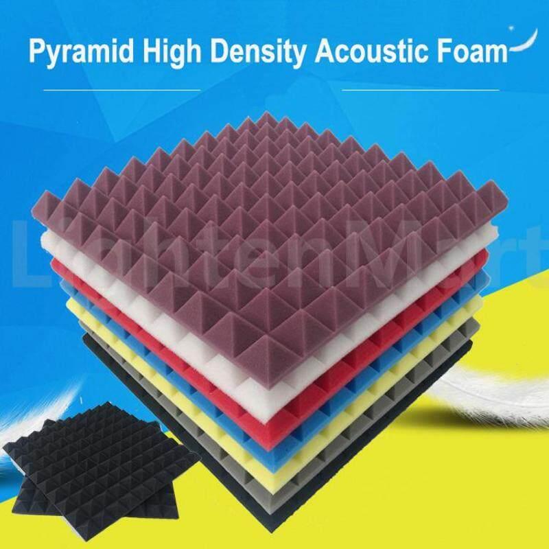 4pcs Acoustic Foam Tiles Sound Proof Panels Noise Sound Absorption Studio Equipment 50*50*5cm Malaysia