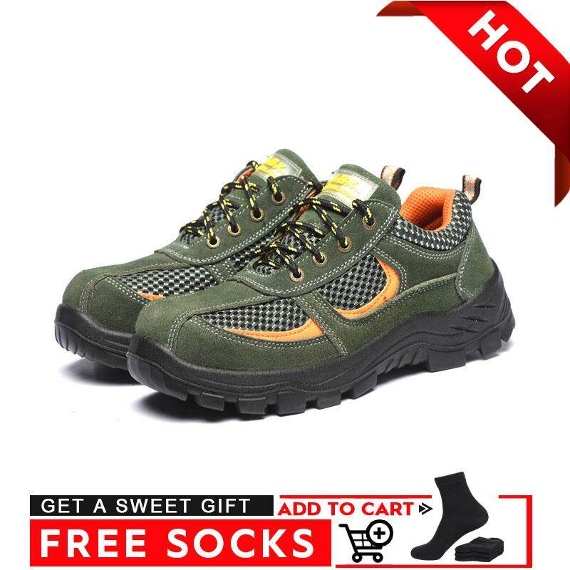 Border【high Quality 】breathable Protective Shoes Anti-Smashing Anti-Slip Safety Shoes By Border Store.
