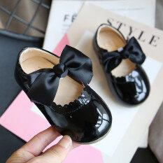 Giày búp bê Kio cho bé gái xăng đan da thắt nơ bướm cho công chúa trẻ em mới biết đi