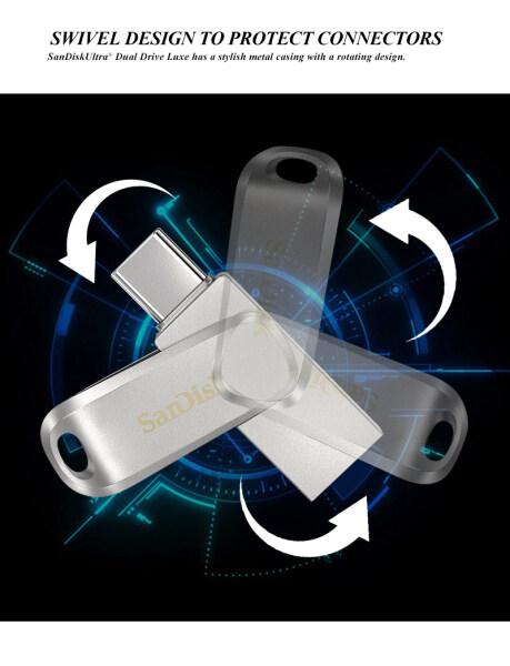 Bảng giá SanDisk Ultra Dual Drive Luxe USB Type-C Flash Drive 64GB/128GB Dual Drive OTG Pendrive 150 MB/giây Phong Vũ