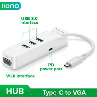 Llano USB 3.0 HUB Type-C Sang Bộ Chuyển Đổi VGA Có Chức Năng Sạc Cho MacBook 12 New Pro thumbnail