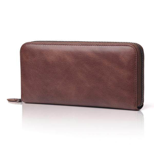 HOT!Genuine Leather Women Wallet Female Long Clutch Lady Walet Portomonee Rfid Luxury Brand Money Bag Solid Zipper Coin Purse[Model:PLOKMIJN0322]