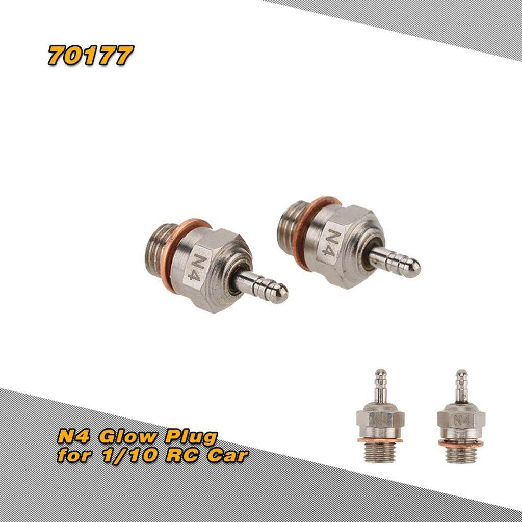 Jeo 2 Pcs 70117 N4 Glow Plug Spark Plug For Hsp 1/10 Rc Car Part Crawler Part By Jeromestore.