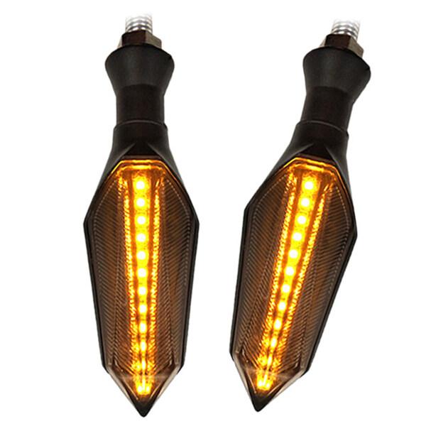 WDPlanet, 2X12 Đèn LED Xi Nhan Xe Máy Hổ Phách Blinker Chỉ Số Phía Sau