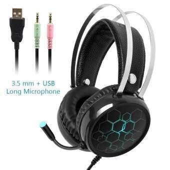 USB สาย 7.1 GAMING HEADSET หูฟังกับ Gamer เสียงรอบทิศทางไมโครโฟนมืออาชีพเบสสำหรับพีซีคอมพิวเตอร์ Xbox One PS4 RGB แสง