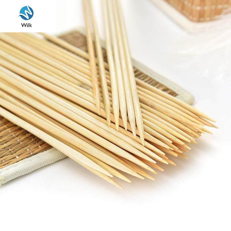 Wilk 100Pc 30cm*2.5mm wooden bamboo BBQ sticks tool Bamboo BBQ Party Skewers Disposable Sticks Meat Food Long Catering Grill Camping