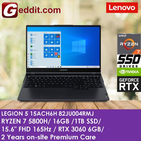 LENOVO LEGION 5 15ACH6H 82JU004RMJ GAMING LAPTOP (RYZEN 7 5800H,16GB,1TB SSD,15.6 FHD 165Hz,RTX3060 6GB,WIN10 ) Malaysia