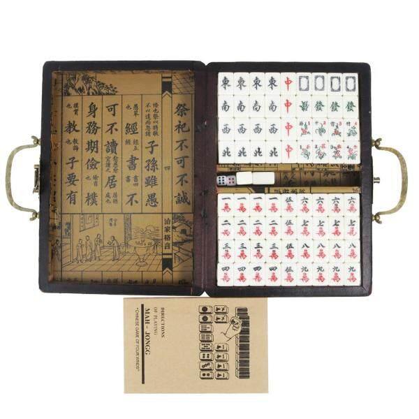 Red Dragon and Phoenix with handles English Mahjong Tour Mahjong 23cm x 16cm x 4.5cm