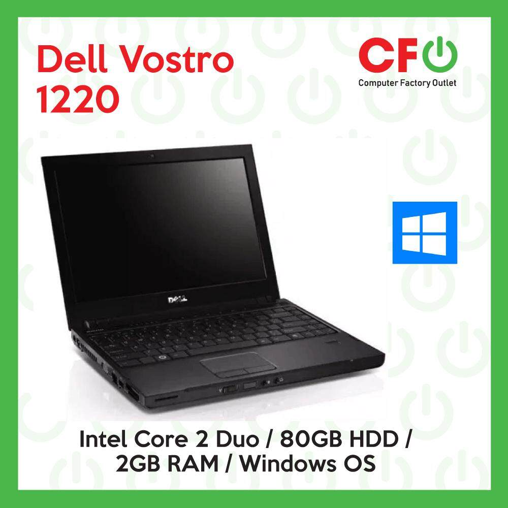 Dell Vostro 1220 / Intel Core 2 Duo / 2GB RAM / 80GB HDD / Windows OS Laptop / 1 Month Warranty (Factory Refurbished) Malaysia