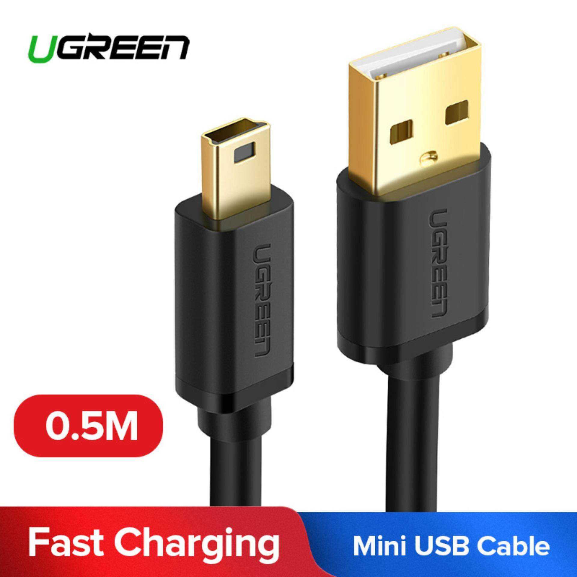 UGREEN 0.5 Meter Mini USB Cable USB 2.0 Type A to Mini B Cable Male Cord