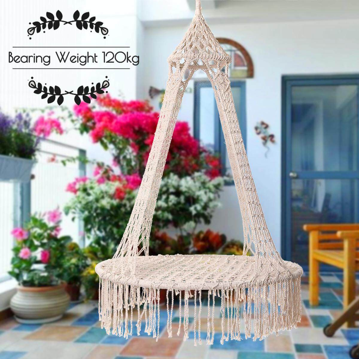 【Free Shipping + Flash Deal】Gardeon Lounge Hanging Chair Hammock Swing Seat Indoor Outdoor Camping Tassel