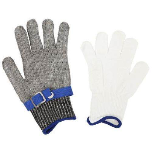 Stainless Steel Wire Safety Gloves Cut-resistant Hands Protection Tool (GRAY)