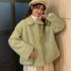 Áo khoác tay dài dáng rộng trơn 1 màu dành cho nữ giúp giữ ấm cho mùa thu đông – INTL